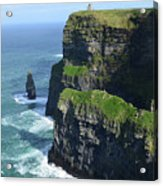 Amazing Look At The Sea Cliff's Of Moher In Ireland Acrylic Print