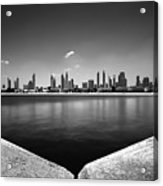 Amazing Panorama Reflection Of Dubai Jumeirah Beach, Dubai, United Arab Emirates Acrylic Print