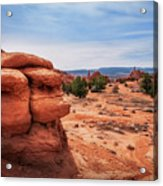 Amazing Rock Formations At Kodachrome Basin State Park, Usa. Acrylic Print
