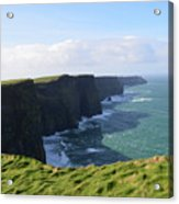 Amazing Scenic Views Of The Cliff's Of Moher Acrylic Print