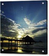 Amazing Sky Pier 60 Acrylic Print