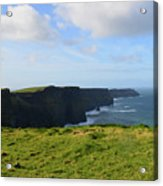 Amazing Views Of The Cliff's Of Moher In Ireland Acrylic Print