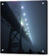 Ambassador Bridge In Fog Acrylic Print