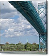 Ambassador Bridge - Windsor Approach Acrylic Print