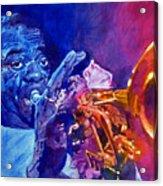 Ambassador Of Jazz - Louis Armstrong Acrylic Print by David Lloyd Glover