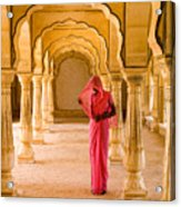 Amber Fort Temple Acrylic Print