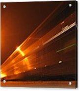 Amber Night Train Acrylic Print