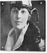 Amelia Earhart, Us Aviation Pioneer Acrylic Print by Science, Industry & Business Librarynew York Public Library