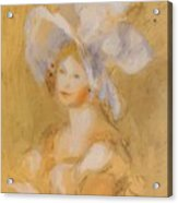 Amelie Dieterie In A White Hat Acrylic Print