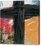 Amen Contemporary Cross- Art By Linda Woods Acrylic Print