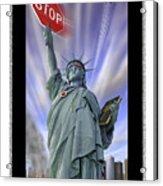 America On Alert II Acrylic Print
