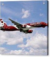 America West Boeing 757 Arizona Cardinals Acrylic Print