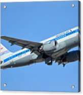 American Airbus A319-0112 N744p Retro Piedmont Pacemaker Phoenix Sky Harbor January 21 2016 Acrylic Print