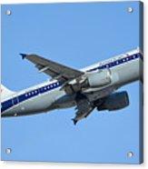 American Airbus A319-112 N745vj Allegheny Vistajet Phoenix Sky Harbor January 19 2016 Acrylic Print