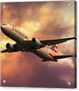 American Airlines 767 N345an Acrylic Print