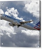 American Airlines Airbus A321 Acrylic Print