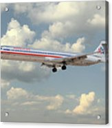 American Airlines Md-80 Acrylic Print