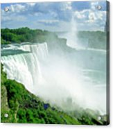 American And Niagra Falls At Niagra Acrylic Print