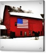 American Barn Acrylic Print by Bill Cannon