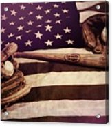 American Baseball Grunge Acrylic Print