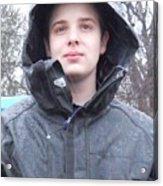 American Boy In Rain Acrylic Print