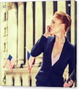 American Businesswoman Working In New York Acrylic Print