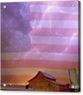 American Country Stormy Night Acrylic Print