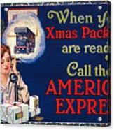 American Express Shipping Acrylic Print