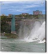 American Falls And Rainbow Bridge Acrylic Print