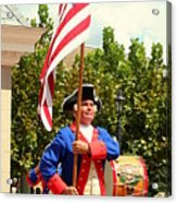 American Fife And Drum Corp Flag Carrier Acrylic Print