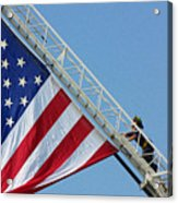 American Firefighter Acrylic Print