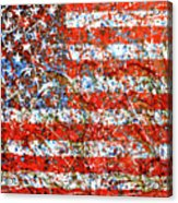 American Flag Abstract 2 With Trees  Acrylic Print
