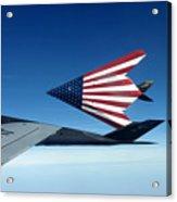American Flag F 117 Nighthawks Acrylic Print