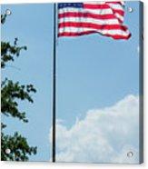 American Flag Flying Proud Acrylic Print