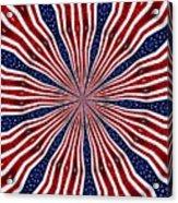 American Flag Kaleidoscope Abstract 6 Acrylic Print