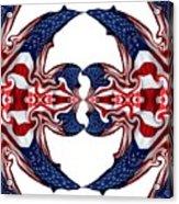 American Flag Polar Coordinate Abstract 1 Acrylic Print