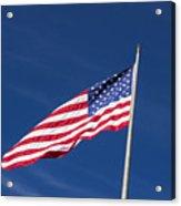 American Flag Waving In The Breeze Acrylic Print