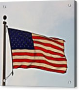 American Flag Waving Proudly- Fine Art Acrylic Print