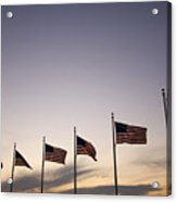 American Flags On The Mall Acrylic Print