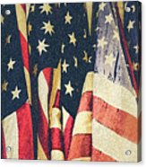 American Flags Painted Square Format Acrylic Print