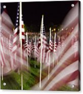 American Flags Tribute To 9-11 Acrylic Print