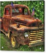 American Ford 1950 F-1 Ford Pickup Truck Art Acrylic Print