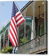 American French Quarter Acrylic Print