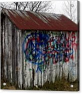 American Graffiti 4   Zig Zag Man Acrylic Print
