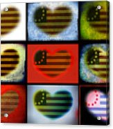 American Hearts Acrylic Print