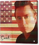 American Icon Johnny Cash Acrylic Print