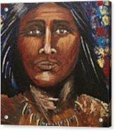 American Indian Portrait Acrylic Print