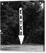 American Interstate - Missouri I-70 Bw Acrylic Print