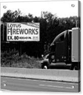 American Interstate - Pennsylvania I-80 Bw 2 Acrylic Print