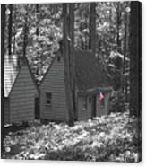 American Little House In The Woods Acrylic Print